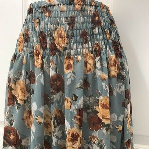 3 for $20-NEW-Fall Floral Sheer Maxi Skirt Sz S/M